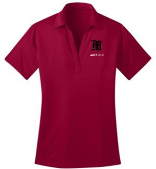 Manual Lacrosse LADIES Red polo L540