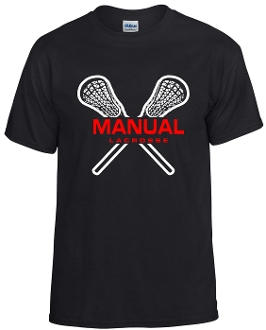 Manual Lacrosse black 50/50 cotton blend t-shirt 8000