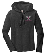 Ballard Lacrosse Anvil Long Sleeved LADIES Hooded T 887L