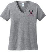 Ballard Lacrosse LADIES CUT 100% cotton V neck LPC54V
