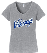 St. Albert Heather Gray Vikings V neck LPC450V