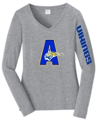 St. Albert Heather Gray Vikings Long sleeve V neck LPC450VLS
