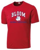 Bloom Elementary Moisture wicking full front printed T ST 350