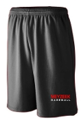 Meyzeek Baseball Black shorts 9 inch inseam Aug 802/809