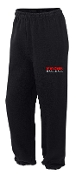 Meyzeek Baseball Black elastic bottom sweatpants G182