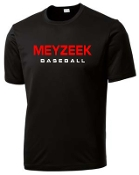 Meyzeek Baseball Black Cationic Moisture wicking T shirt ST 350