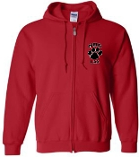 Noe Middle School Lax Red Full zip hooded sweatshirt P180