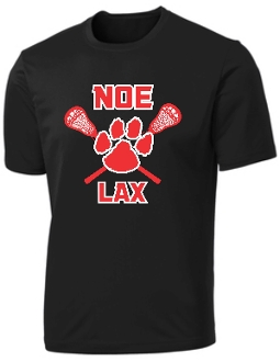 Noe Middle School Lacrosse Performance Black T shirt PC380