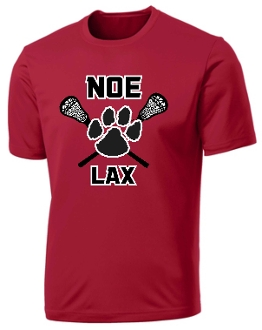 Noe Middle School Lacrosse Performance Red T shirt PC380