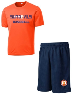 Sun Devils Baseball Player Pack practice shirt and shorts
