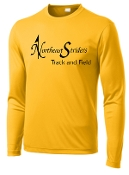 NE Striders NE050 Track and Field Gold letters only shirt