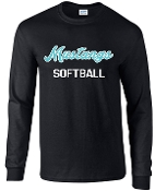 North Oldham Lady Mustangs Long Sleeve 50/50 blend T-shirt 2400
