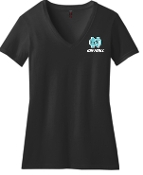 North Oldham Lady Mustangs LADIES CUT 50/50 blend V neck DM1190L