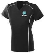 North Oldham Lady Mustangs Ladies moisture Black V neck Aug 1092