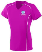 North Oldham Lady Mustangs Ladies moisture Pink V neck Aug 1092