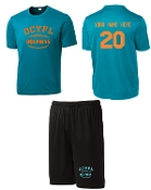 OCYFL Dolphins Player pack shirt and shorts ST 350/355