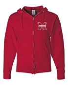 Manual Marching Band zippered hoodie with left chest logo