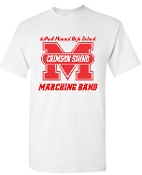 Manual Marching Band white T shirt G5000