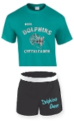 OCYFL Dolphins Cheer pack shirt and shorts G8000/M037
