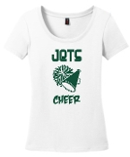 OCYFL Jets Cheer White scoop neck DM106L