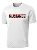 St Margaret Mary Mustangs White Moisture wick t PC380