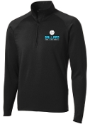 Ballard Volleyball Black Mens 1/2 zip  pullover ST850