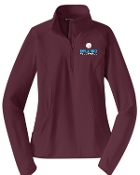Ballard Volleyball Maroon Ladies 1/2 zip  pullover LST850