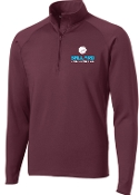 Ballard Volleyball Maroon Mens 1/2 zip  pullover ST850