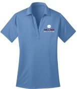 Ballard Volleyball spirit Columbia Blue ladies polo L540