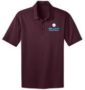 Ballard Volleyball spirit Maroon Mens polo K540