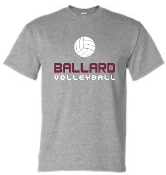 Ballard Volleyball spirit t shirt G8000