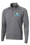 Ballard Volleyball Charcoal Gray Mens 1/2 zip  pullover ST850