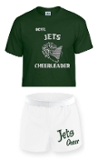 OCYFL Jets Cheer pack shirt and shorts G8000/M037