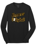 Kammerer Volleyball Black Long sleeve T-shirt cotton PC54LS