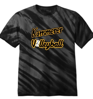 Kammerer Volleyball Black Tie Dyed Tshirt PC148