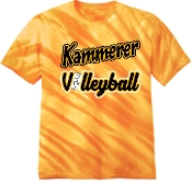 Kammerer Volleyball Gold Tie Dyed Tshirt PC148