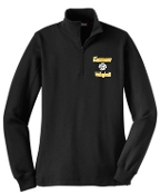 Kammerer Volleyball Ladies 9 oz 1/4 zip Black sweatshirt LST253