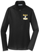 Kammerer Volleyball Ladies Black 1/2 zip  pullover L806