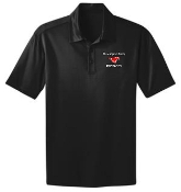 St Margaret Mary Black Moisture wicking polo K540