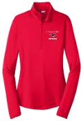 St Margaret Mary Red Ladies embroidered 1/4 zip LST357
