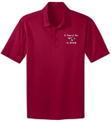 St Margaret Mary Red Moisture wicking polo K540