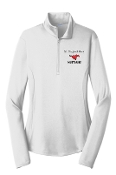 St Margaret Mary White Ladies embroidered 1/4 zip LST357