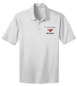 St Margaret Mary White Moisture wicking polo K540