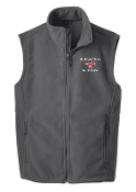 St Margaret Mary spirit Mens/Boys Gray Fleece Vest F219/Y219