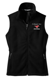 St Margaret Mary Black Volleyball spirit Ladies Fleece Vest L219