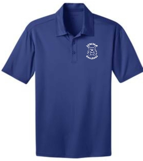 Lincoln Elementary Mens Royal Moisture wicking polo K540