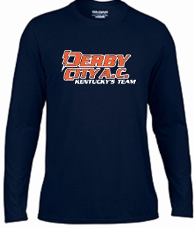 Derby City AC YOUTH Navy Long Sleeve cotton Tshirt G2400b