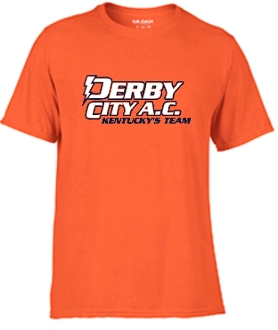 Derby City AC Performance Orange Short Sleeve cotton Tshirt G420
