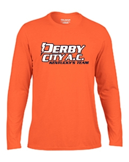Derby City AC Performance Orange Long Sleeve cotton Tshirt G424