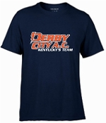 Derby City AC Performance Navy Short Sleeve cotton Tshirt G420